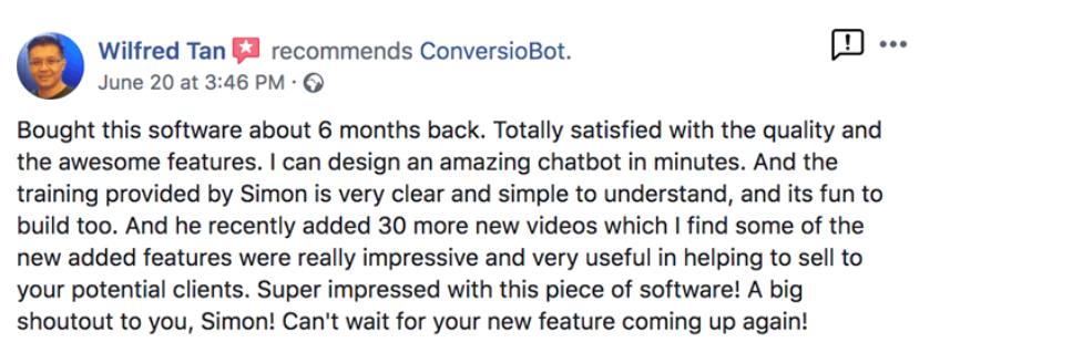 ConversioBot Reviews-customer feedback