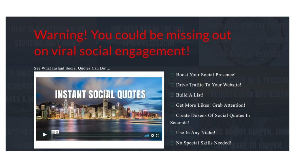 Instant Social Quote Reviews-home page